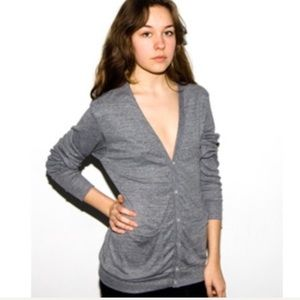 American Apparel Tri-Blend Cardigan Size Small
